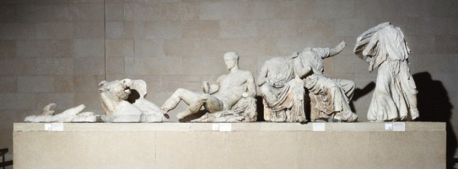 The Parthenon sculptures. Photo from the museum.