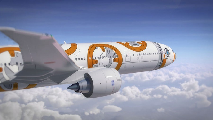 A closer look at the BB-8 ANA Jet.