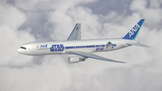 A side of the Star Wars ANA Jet that features the character R2-D2.