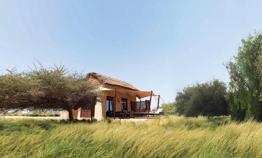 One of the 30 villas at Anantara's Al Sahel Villa Resort, which sits on a stretch of savanna inside the Arabian Wildlife Park.