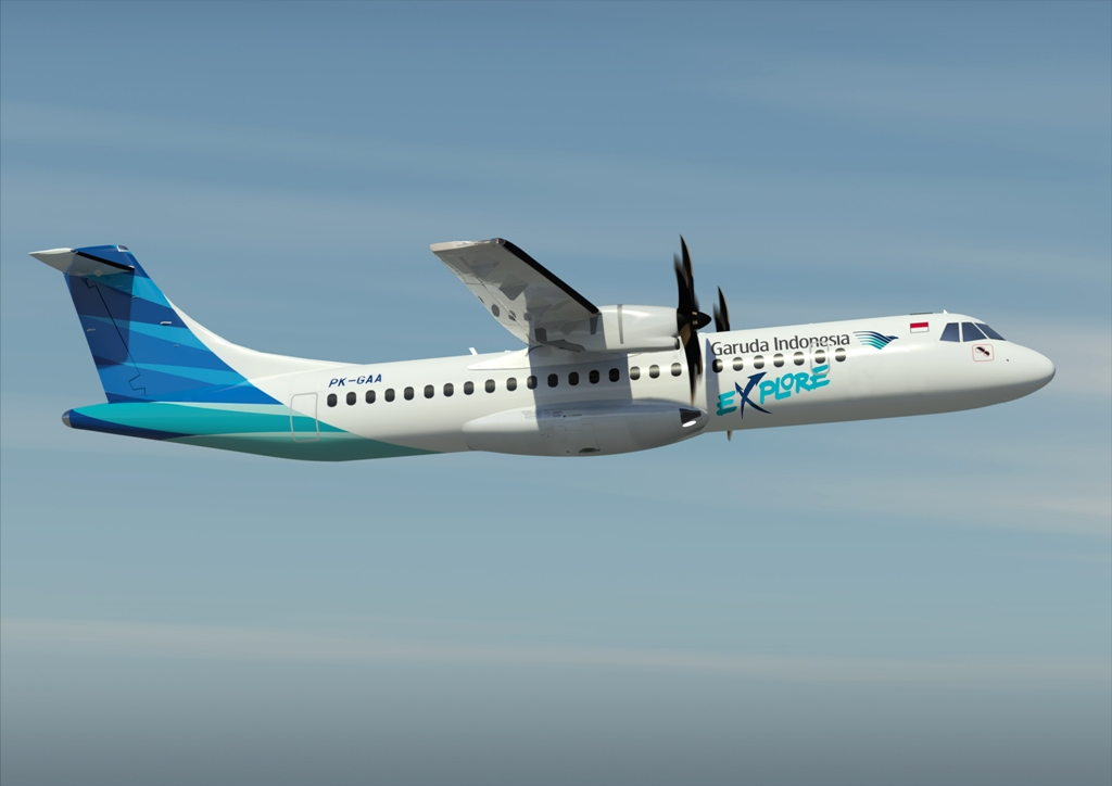 Garuda Indonesia's new ATR72-600 flies high under the Explore brand.