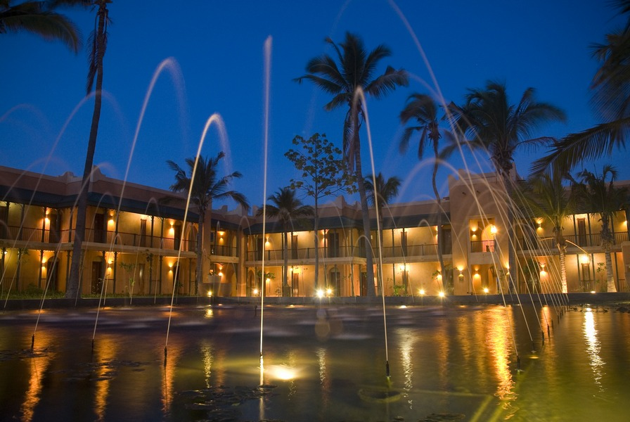 A fountain-filled courtyard at the hotel.