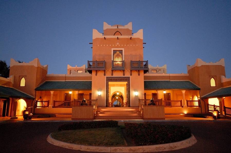 The hotel's architecture draws on designs native to the region.
