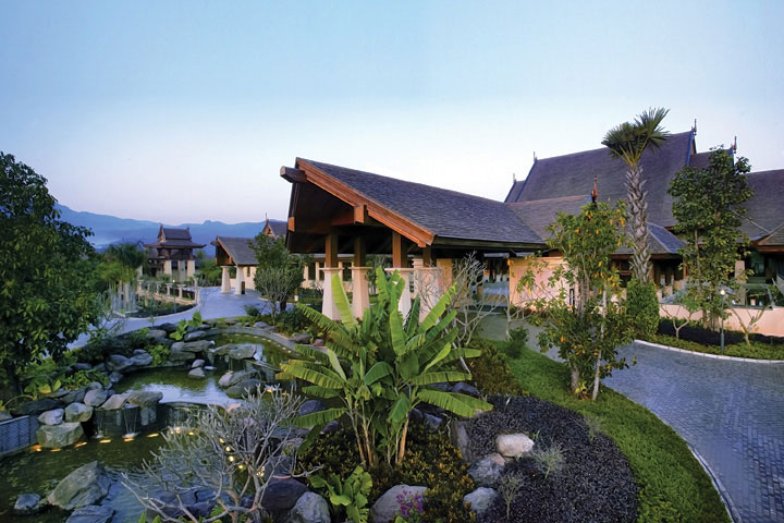 The accommodations all have modern features, Asian decor, and outdoor spaces.