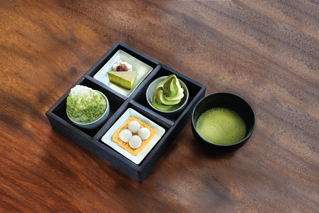 Tsujiri O-Matcha Set.