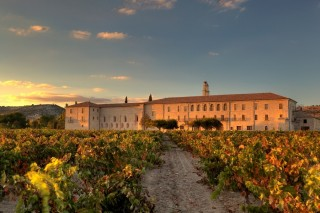 Set in the Duero river valley, the abbey's vineyards produce some of Spain's top wines.