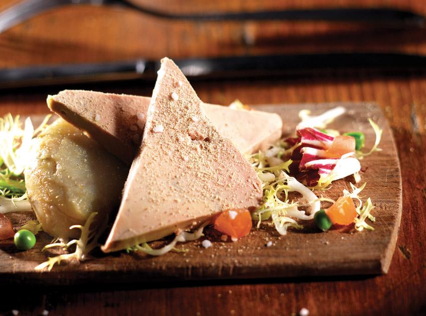 A foie gras platter at Lyon's venerable Cafe Comptoir Abel.