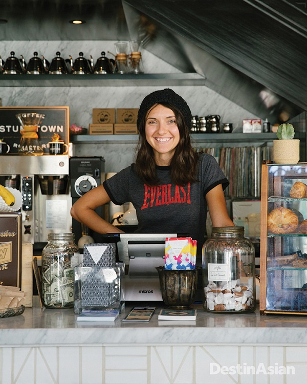 The coffee bar at the Ace's L.A. Chapter restaurant.