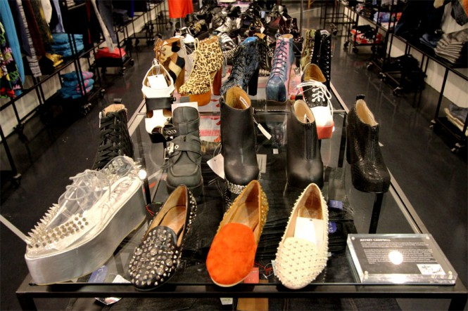 Actually KL's well-stocked selection of shoes.