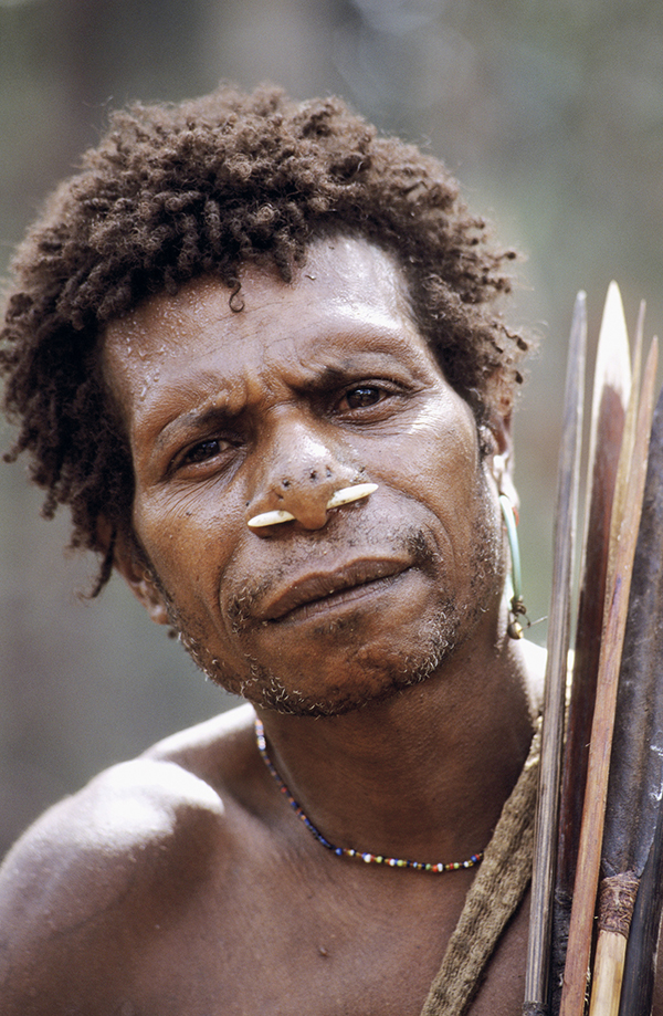 A Korowai hunter from West Papua.