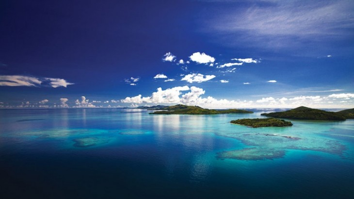 The approach to Yasawa Island by air provides a bird's-eye view of the surrounding archipelago.