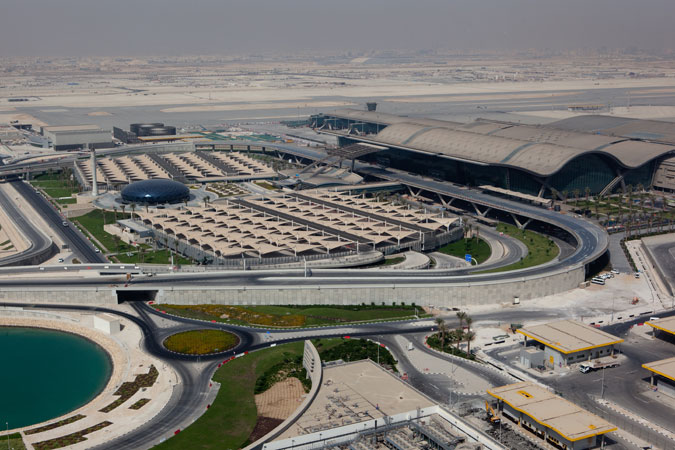 The airport is a third the size of the city of Doha.