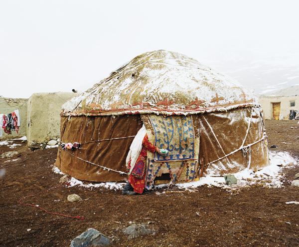 A yurt pitched at a summer camp near Lake Chaqmaqtin