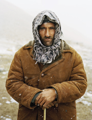Wakhi famer Burch Mirzo, below, led the trek trough mountains he is intimately familiar with
