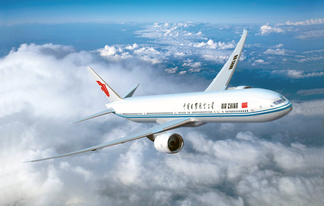 Air China's Boeing 777 features eight luxury first-class suites.
