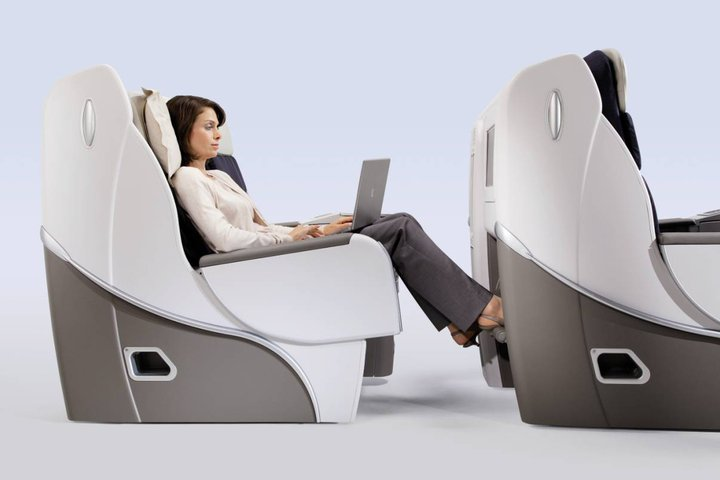 Air France's Business Class seating.