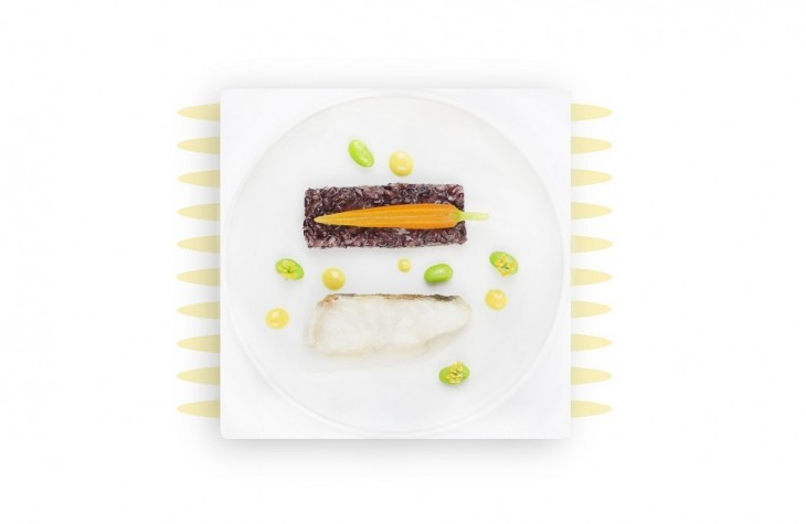 One of the dishes created by Anne-Sophie Pic for Air France's La Premiere passengers in a previous partnership with the airline.