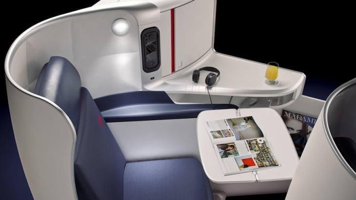 Air France's new business-class cabin on selected routes in Asia.