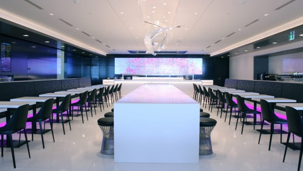 The new Air New Zealand lounge can seat more than 375 passengers.