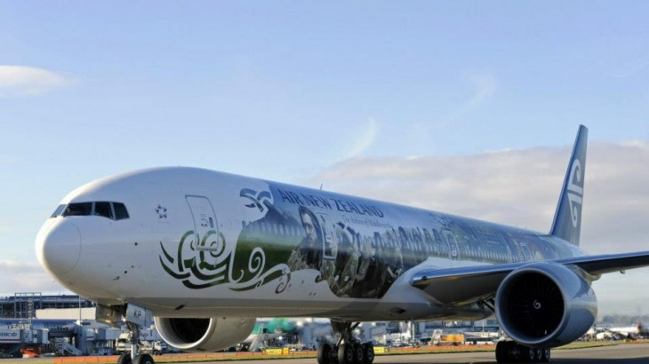 Hobbit-inspired livery for Air New Zealand.