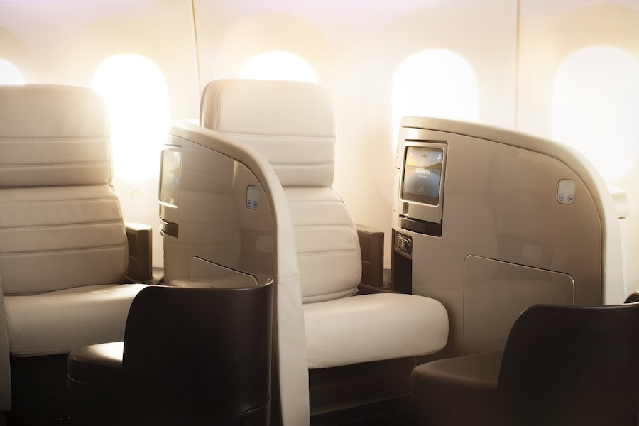 Business Premier seats in Air New Zealand's refurbished Boeing 777-200 ER.