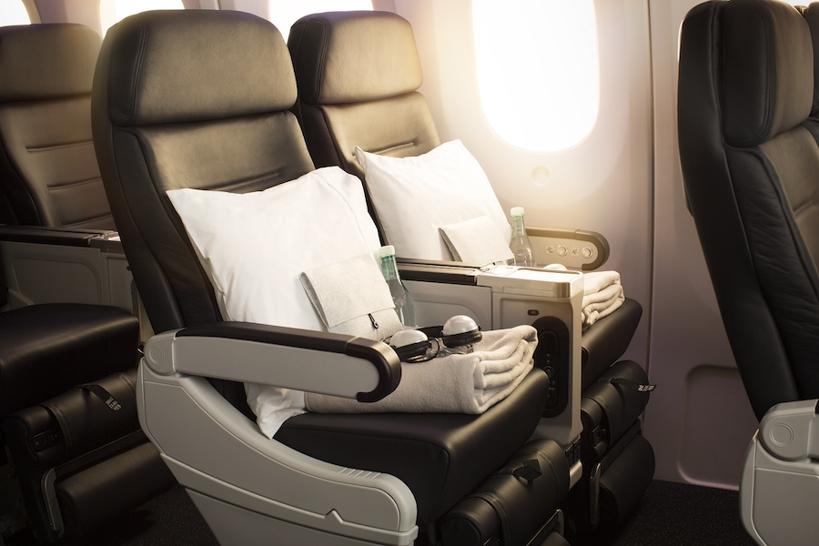 Air New Zealand's Premium Economy seating.