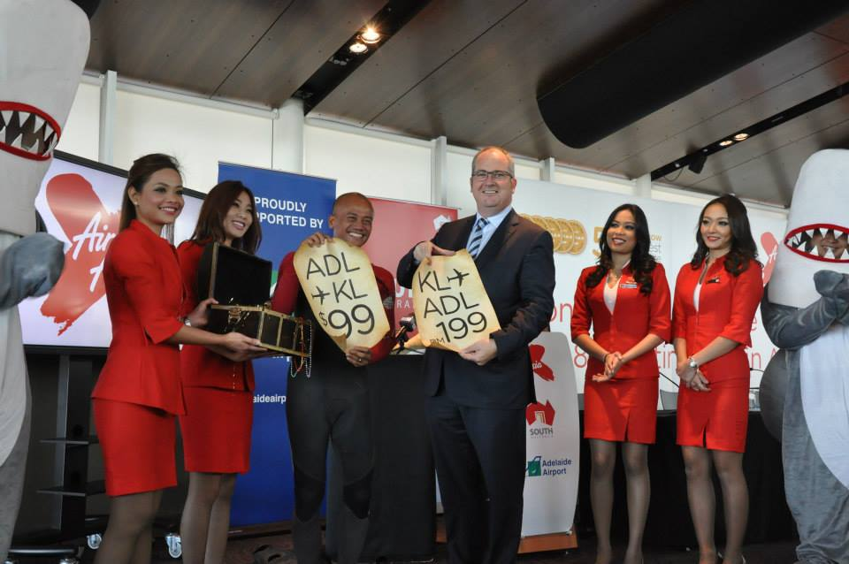 AirAsia X CEO Azran Osman-Rani and South Australia Tourism Minister Leon Bignell reveal special fares for the route.