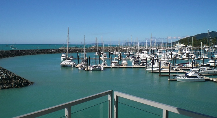 Airlie Beach's busy bay.