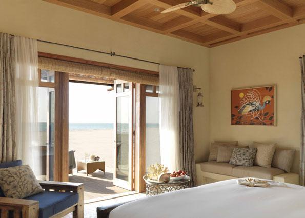 An oceanside view at the Al Yamm Villa Resort