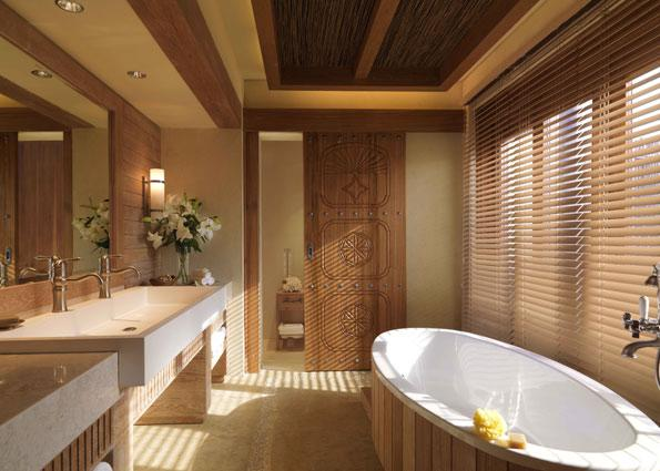 Each villa comes with a spacious bathroom.