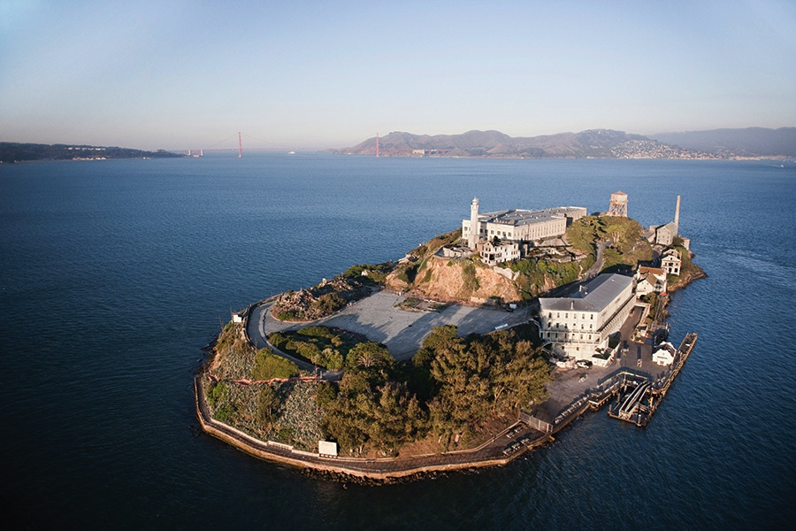 San Francisco's Alcatraz, the site of Ai Weiwei's latest exhibition.