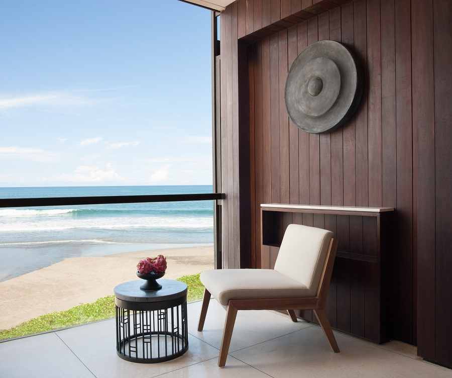 The balcony of an Alila Ocean Suite.