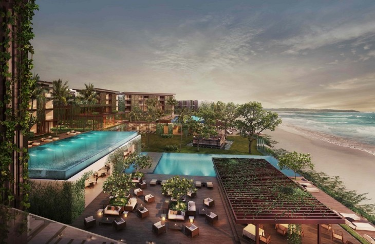 An overview of Alila Seminyak's exterior.