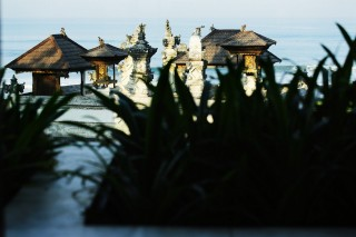 A Balinese temple still used by a local family was kept perfectly in-tact as the resort's centerpiece.