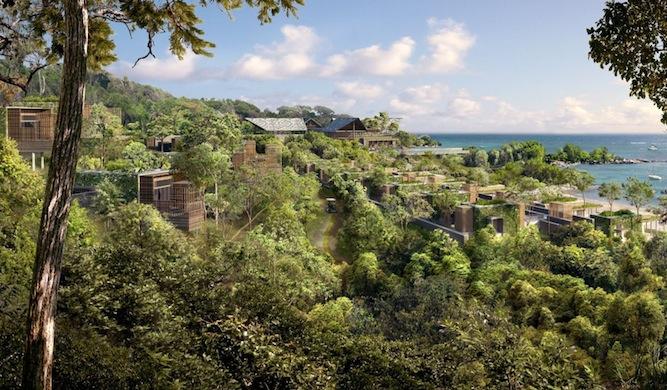 The setting of Alila Villas Bintan.