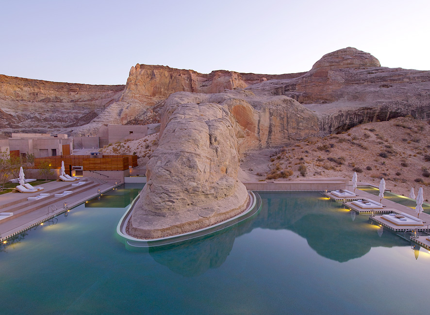 The swimming pool at the Amangiri.