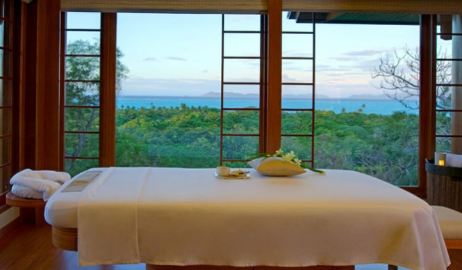 Many of the treatments will take place at the resort's spa with views of the treetops.