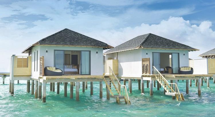 The overwater villa exterior.