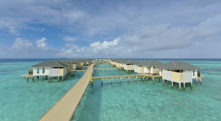 There are a total of 52 overwater villas at the property.
