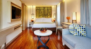 The resort's Deluxe Thai Village room.