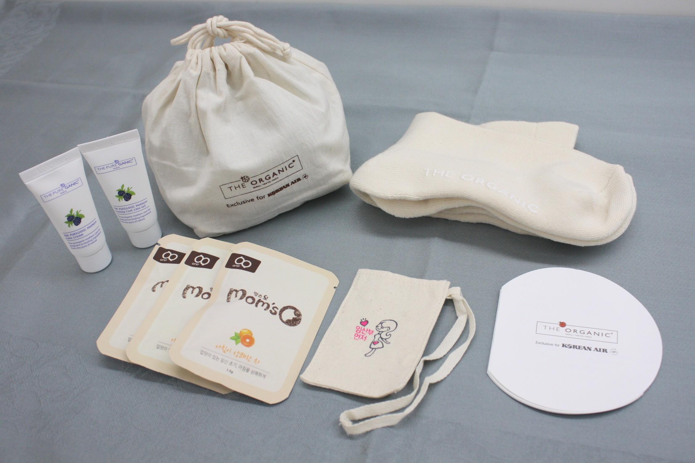 A pregnancy amenities kit.