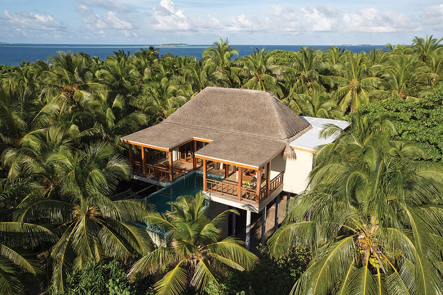 One of Amilla Fushi's Tree House villas.