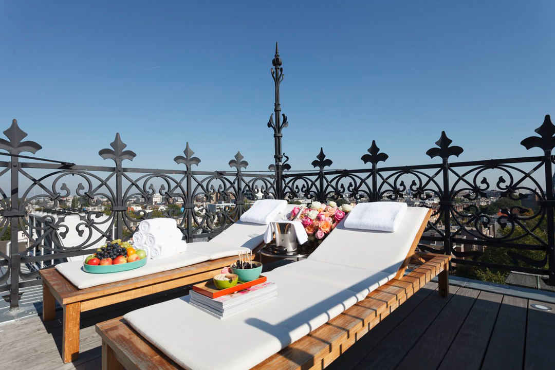 The I Love Amsterdam Suite comes with a private terrace.