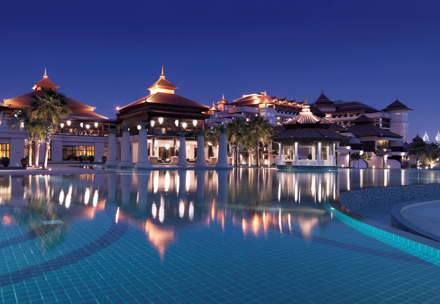 The Anantara by night.