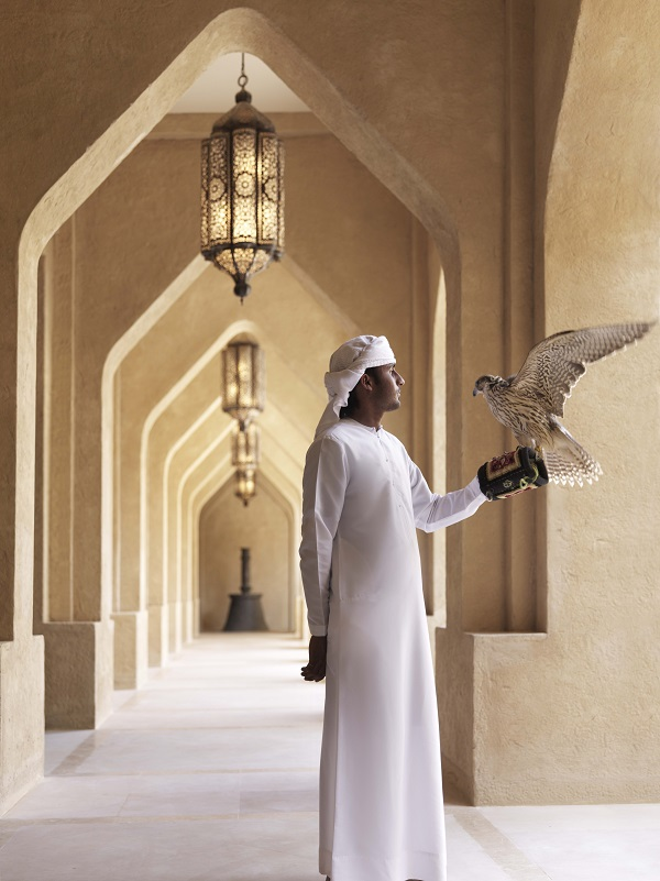 Sessions with the in-house falconer are one of the many activities guests can choose from that are included in their stay.