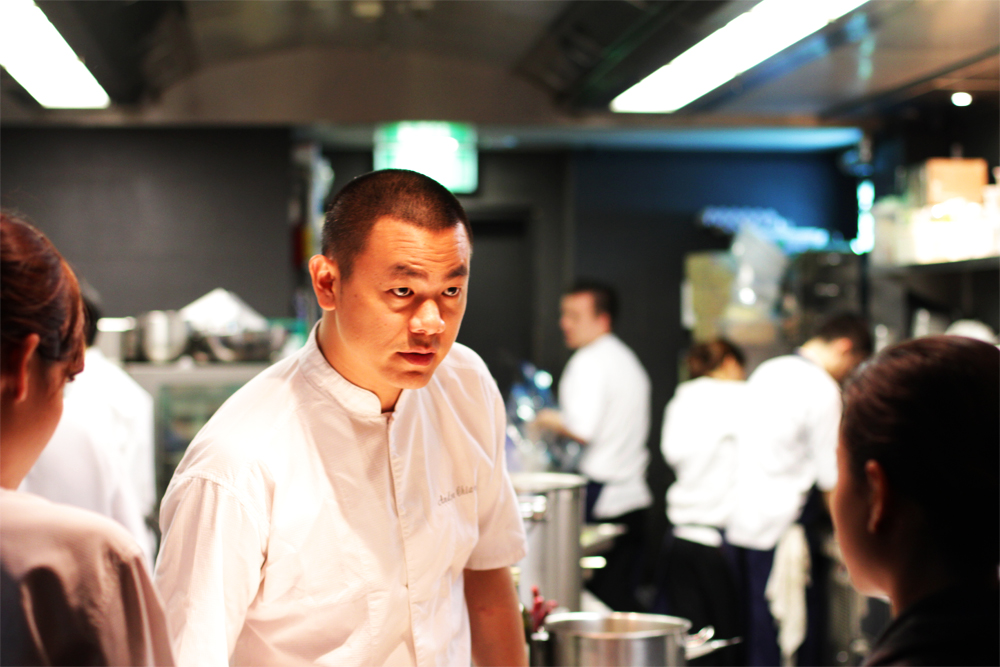Chiang commanding the kitchen.