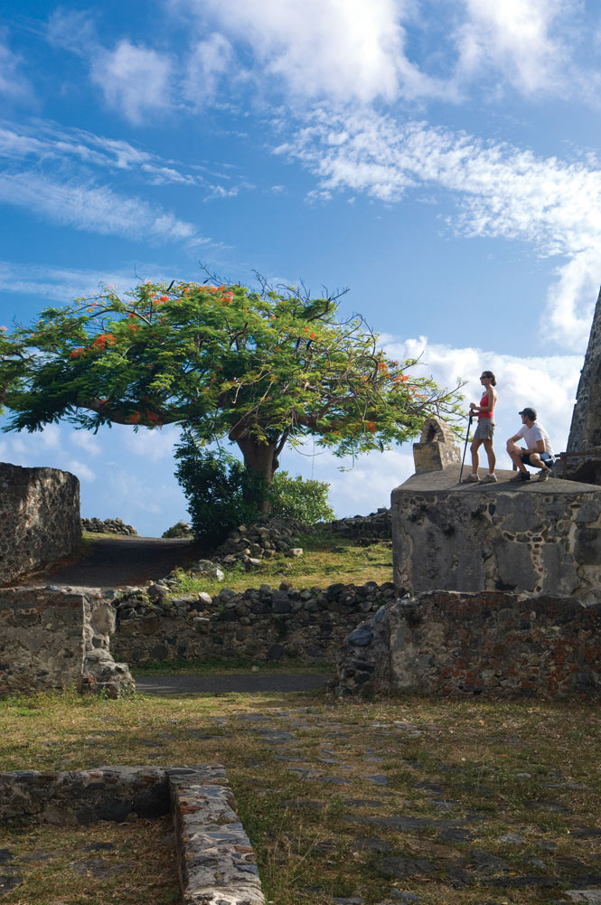 The ruins of the 200-year-old Annaberg sugar mill provide a glimpse of St. John's plantation-era past.