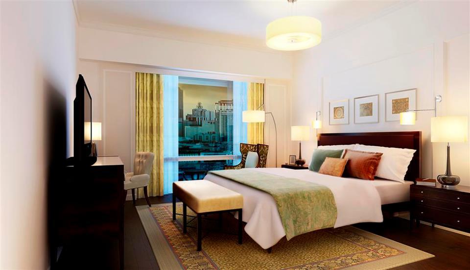 A guest room at Raffles Makati.