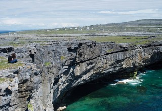 A stunning cliffside on Inishmore.