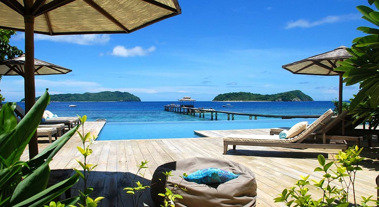 The view from Ariara Island's infinity pool.